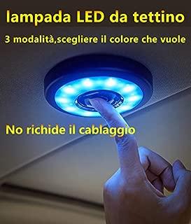 Plafoniera a LED con USB Universale White Light SYN Nero luci Targa Ricaricabile Magnetica luci notturne Wireless per Auto