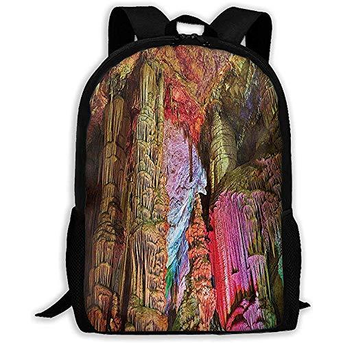 Lässiger Rucksack,Outdoor-Tagesrucksäcke,leichter Laptop-Rucksack,Schultertasche mit Aufdruck,Tagesrucksack für Erwachsene/Kinder Das aus dem Pool gesammelte Regenwasser leuchtet für Männer,Frauen,Oxf