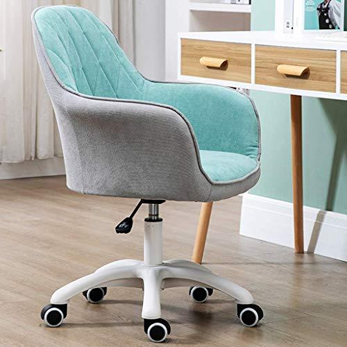 DSJMUY Silla de Oficina, sillas de Trabajo con sofás a Media Altura con Costuras a la Moda, Silla de computadora de Tela cómoda, Duradera y Estable, Ajustable en Altura