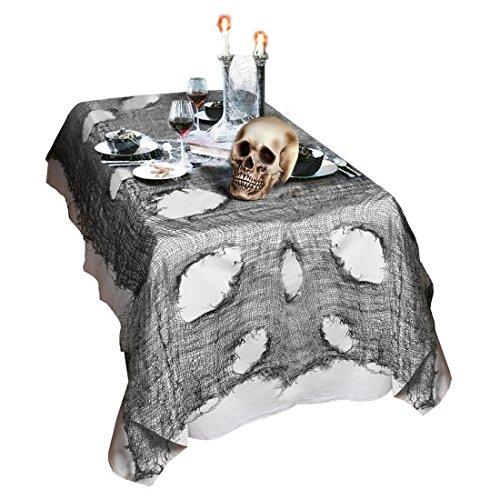 NET TOYS Tovaglia di Halloween Decorazione per tavola Panno stracciato Decorativo per la Stanza Stoffa per Party di Halloween - 75 x 300 cm
