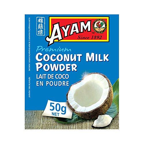 AYAM Lait de Coco en poudre | Goût Authentique | Haute Qualité | Lait et Crème de Coco Sur-Mesure | Alimentation Saine | Sans Gluten | Sans Conservateurs - 50g - Lot de 6