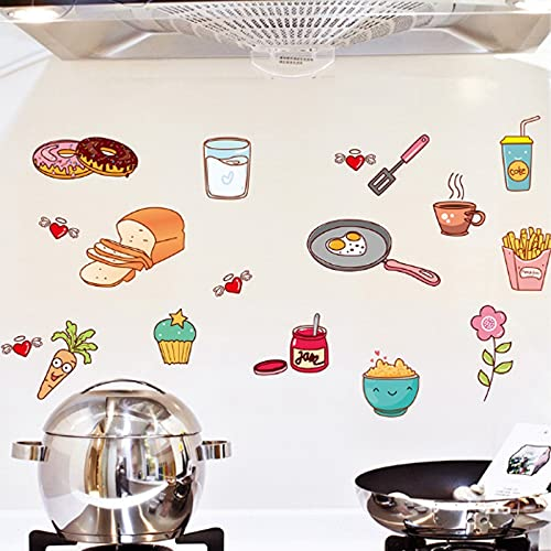 54 * 96cm Cartoon Cabinet Stickers Avtagbar Självhäftande Mat Fruktkonst Väggmålning Dekorativa Klistermärken Lådan Hylla Hållare Hem Köksinredning