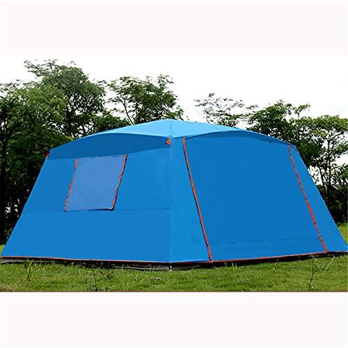 Ouuager-Home Tienda De Verano Ultralarge 5 8 Persona Layadora Doble 365 * 365 * 210cm Party Tienda Gran Gazebo Sun Shelter con Mosquito Impermeable para Exteriores