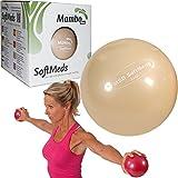 MSD Softmed Medizinball, 0,5 kg, 12cm, weich, aufblasbar, Ball mit Gewicht für Rehabilitation