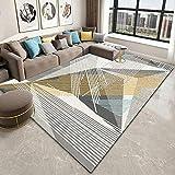 haiba Alfombra de estilo moderno con diseño de alfombra para sala de estar, tamaño extragrande, suave al tacto, pelo corto, no se desprende, 60 cm x 90 cm
