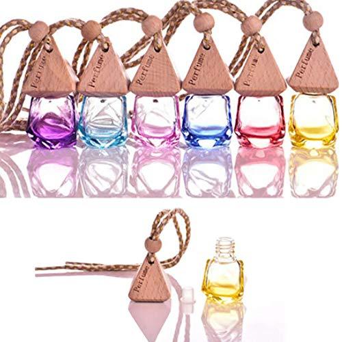 1pc New Beautiful Air Freshener Car Perfume Hanging Printed Fragrance Diffuser Bottle