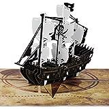 PaperCrush® Pop-Up Karte Piratenschiff - Besondere 3D Geburtstagskarte für Kinder (z.B. Jungen), Mitgebsel für Piraten Kindergeburtstag...