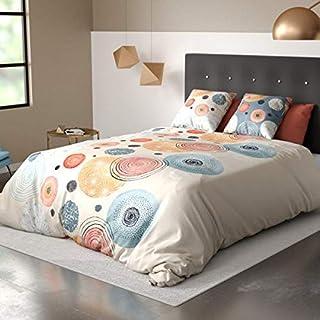 douceur de nuits Parure de Lit, 100% Coton, Orange, 220 x 240 cm