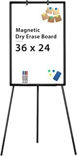 Easel Whiteboard - Magnetic Portable Dry Erase Easel Board 36 x 24 Tripod Whiteboard Height Adjustable Flipchart Easel Stand White Board for Office or Teaching at Home & Classroom (Black)