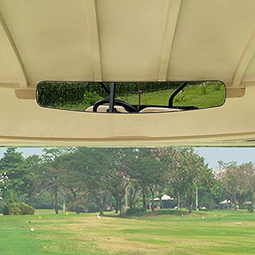 moveland [Newest] Golf Cart Rear View Mirror Without Vibration & Fall Off, 15' Wide Panoramic Mirror Compatible with...
