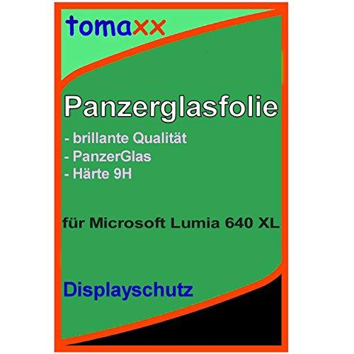tomaxx Microsoft Lumia 640 XL Dual-SIM Glas Glasfolie 9H Panzerglas Panzerglasfolie Schutzfolie