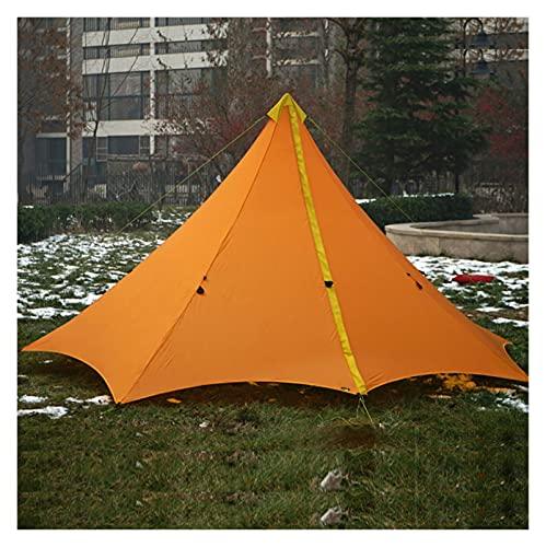 Ultraligero Al Aire Libre Camping Teepee Doble Sido Sido SILICIO CUBIERTADO 20D Nylon PIRÁMIDE Tienda 3 Persona Tienda Grande Impermeable Tiendas De Alquiler (Color : Orange)