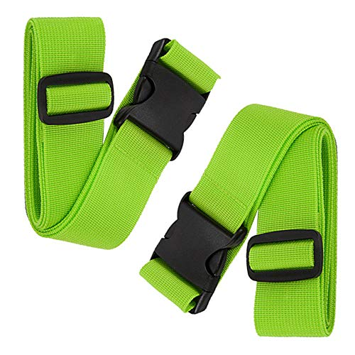 BlueCosto Luggage Straps Suitcase Belts Travel Accessories, 2-Pack, Green
