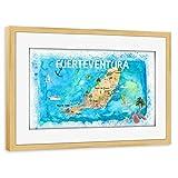 artboxONE Poster mit Rahmen Kiefer 75x50 cm Fuerteventura