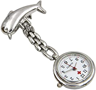 HEMOBLLO Pocket Watch Nurse Watch Steampunk Dolphin Brooch Hanging Watch Doctor Pocket Watch