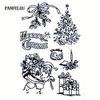 クリスマスギフト11 * 16透明クリアスタンプシリコーンスタンプ/シールDIYスクラップブッキング/フォトアルバムクリスマススタンプシート