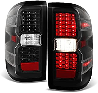 For 2014 2015-2018 Chevy Silverado | GMC Sierra LH & RH Black Replacement LED Tail Lights Tail Lamps Pair Set