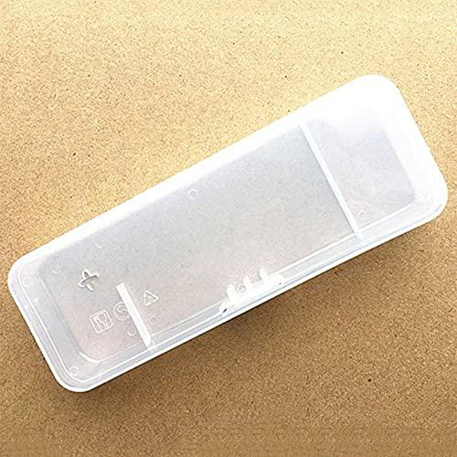 Nieuw 1pc Mannen Universeel Scheerapparaat Opbergdoos Handvat Doos Volledig Transparant Plastic Reisetui Scheermesjes Dozen Milieuvriendelijke Scheerbox-Clear, China