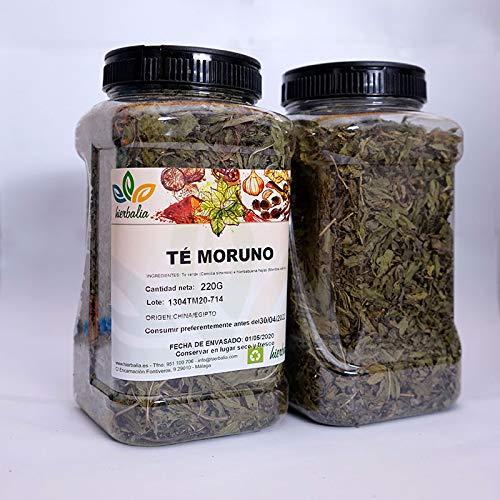 Té Moruno HIERBALIA   Deliciosa mezcla de té verde gunpowder y hojas de hierbabuena seca   Varios formatos (Bolsa 1 Kg.)