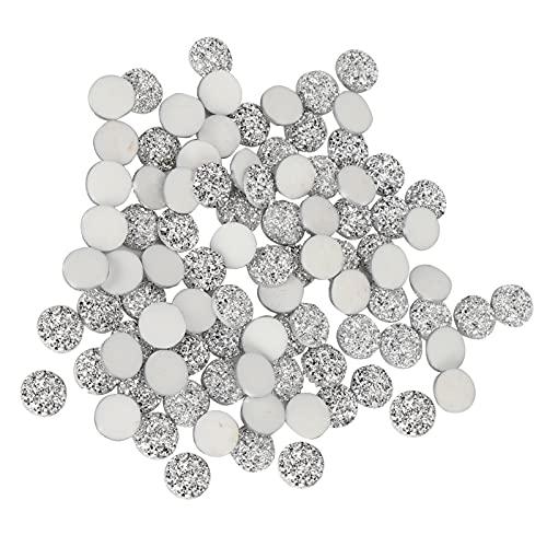 Plano, 100 piezas de resina redonda brillante de 12 mm accesorios para producción de bricolaje para colgantes de collar para manualidades para decoración de llaveros