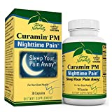 Terry Naturally Curamin PM - 30 Vegan Capsules - Non-Habit Forming Nighttime Pain Relief Supplement, Contains Curcumin & Melatonin - Non-GMO, Gluten-Free, Kosher - 15 Servings