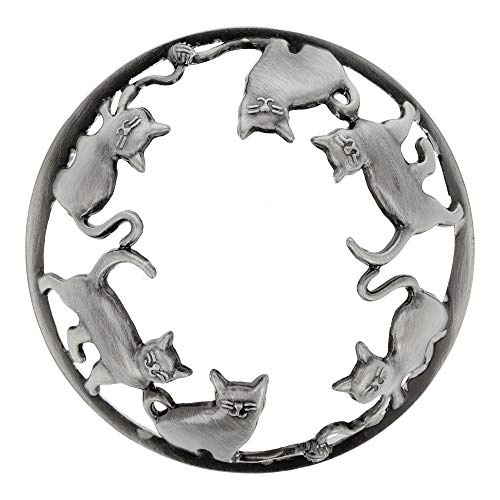 EXCLUSIVE Candle Topper/JAR Topper LID Cats/Kitten Brushed Silver
