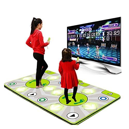 TOYS Alfombra De Baile Doble, Alfombra Baile Iluminada - Juegos Baile Estilo Arcade con Pistas De Música Incorporadas Equipado Niveles Conecta Y Reproduce,Sentido Juego para PC TV