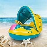 Piscina Galleggiante Row - I Bambini Anello di Nuoto del Ghiaccio Equipaggiamento del Bambino del Bambino con Il Parasole Sedile Anello