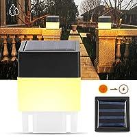 フェンスライト、耐久性のあるフェンスソーラーライト、ガーデンパスのフェンス照明