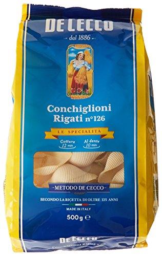 De Cecco Pâtes Conchiglioni Rigati 500 g - Lot de 6