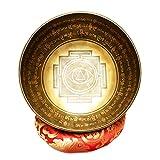 ZYuan Cuenco Tibetano, Hecho a Mano Kit Juego De Cuencos Tibetanos con Cojín De Seda y la Baqueta, Cuencos Tibetanos para Meditación La Curación De Chakras Relajación Yoga Estrés Alivio (Size : 22cm)