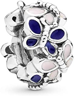 Butterfly Arrangement 925 Sterling Silver Charm - 797870ENMX