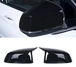 SNA Gloss Black ABS Side Mirror Cover Cap Replacement Compatible for BMW X3 G01 X4 G02 X5 G05 X7 G07 (2017+) 2-pc Set