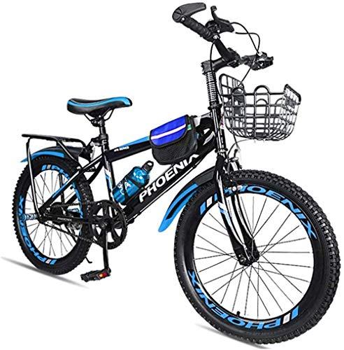 Bicicleta de montaña ajustable para niños de 7 a 14 años de edad y niñas de 18 y 20 azul verde rojo y azul