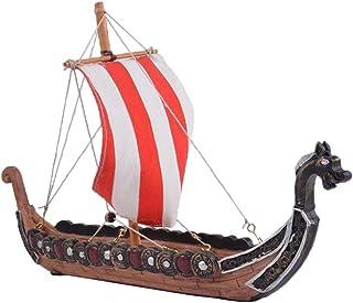 Modelo de Barco Pirata de Resina, Regalos de Fengshui, Nuevos Regalos de Boda - B- 27.5x5.5x17.5cm