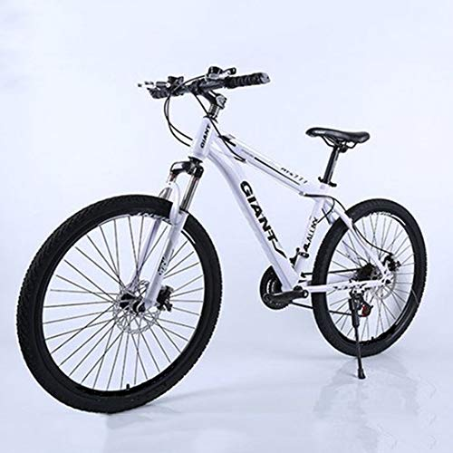 Bicycle,Road Bike,Mountain Bike,High-Carbon Steel Hardtail Bike, 24/26 Inch Men Women Student Variable Speed Bike,Silver,24 inches