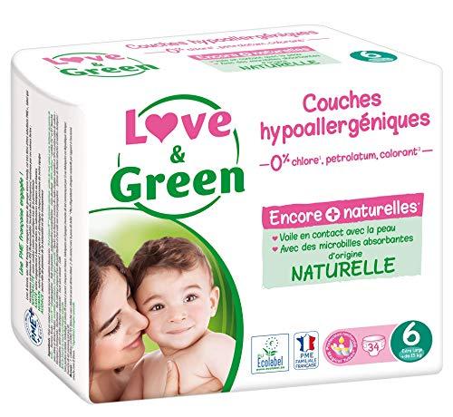 Love & Green Couches Bébé Taille 6 (15+ kg)