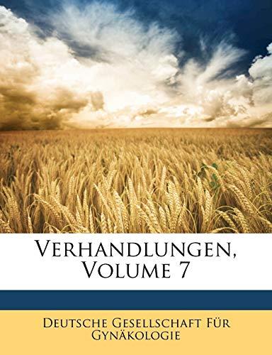 Verhandlungen, Volume 7