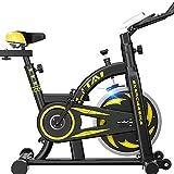 RR-YRF 100 Kg / 220 Libras Hogar Bicicleta Estática Plegable Ultra Silencioso Pedal De Pérdida De Peso Bicicleta De Ejercicio Dinámico Equipo De La Aptitud,Amarillo
