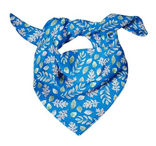 Bimba Azul hojas de fresno y roble acuarela Pañuelos de seda impresos para el cuello de la bufanda del pelo del verano del abrigo puro 40 x 80 Pulgadas