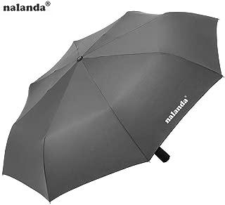 NALANDA Automatic Folding Travel Umbrella Auto Open and Close (Gray)