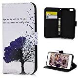 iPhone 6 Case (4.7 inch),YOKIRIN Premium PU Leather Wallet Case Cover Pouch [Magnetic Closure] with Card Slots,Kickstand,Credit Card Holder,Book Style Flip Wallet Case for iPhone 6 6S,Tree & Birds