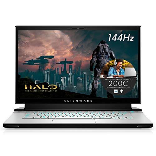 Alienware M15 R3, PC Portable Gamer 15,6' Full HD Lunar Light (Intel Core i7, 16Go de RAM, SSD 1To, NVIDIA GeForce RTX 2060, Windows 10 Home) Clavier AZERTY Français