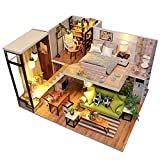 Lifesongs Maison De Poupée En Bois Miniatures DIY House Kit Et LED Light