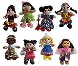 Snuggle Stuffs Soft Plush Around The World 8' Dolls, 8 Pack