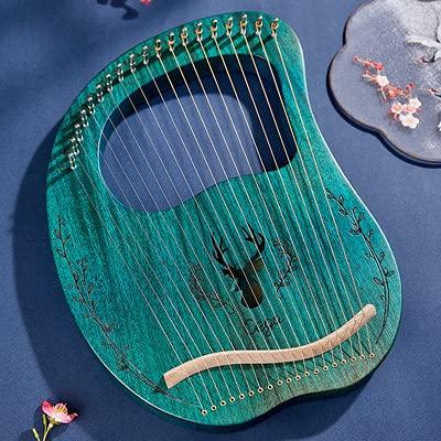 SXMY Arpa De Lira 19 Cuerdas Caoba Arpa Pequeña Portátil Adecuado para Principiantes, Regalos para Amantes de la Música,003,19 Strings