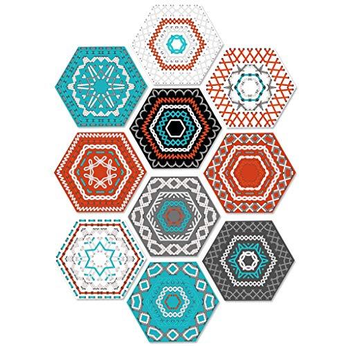 Hexágono pegatinas Vinilo para azulejos de pared para decoración del hogar hexagonal Sala de estar Cocina Baño Calcomanías de azulejos, Pelar y pegar autoadhesivo 7.87