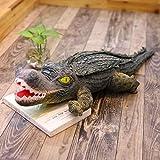 40-200cm Grandes Juguetes de Peluche de cocodrilo muñeca de simulación Animal rígido muñeco de cocodrilo de Peluche Regalo para niños decoración del hogar Accesorios de Fotos Boca Abierta 160cm