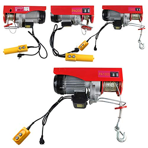 Elektrische Hebezeuge 220V Elektrische Seilwinde Flaschenzug Kran 200KG/600KG/800KG/1000KG Hub Winde (200KG)