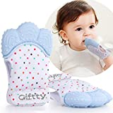 2020 New Multiple Breathable Teething Mitten Teething Toy Baby Self Soothing Teether, Teething Pain Relief Toy, Prevent Scratches Glove Stay on Babys Hand, for 0-6 Months Baby